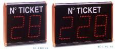 Il sistema eliminacode EC Visor utilizza visori a due o tre cifre, singoli o asserviti.